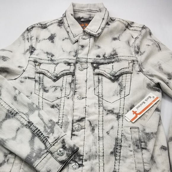Rock Revival Other - Rock Revival Gray Acid Wash Jean Jacket Small NWT